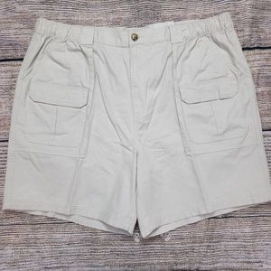 Croft Barrow Cargo Elastic Waist Shorts Sz 44 New